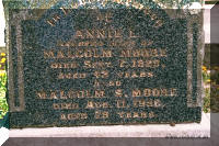 Annie and Malcolm Moore headstone