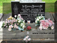 Headstone Glenis Cocker